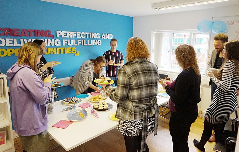 Netbox Recruitment charity cake sale