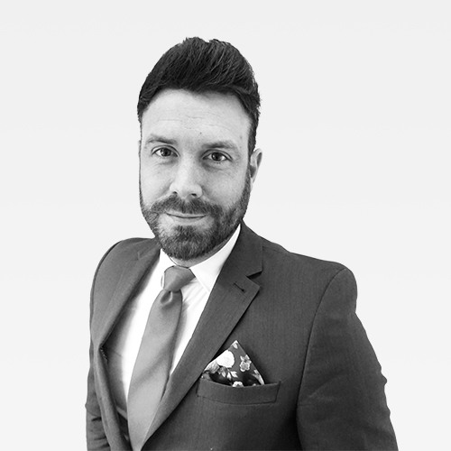 Greg McPherson, Recruitment Business Partner, Netbox Recruitment, black and white portrait photo