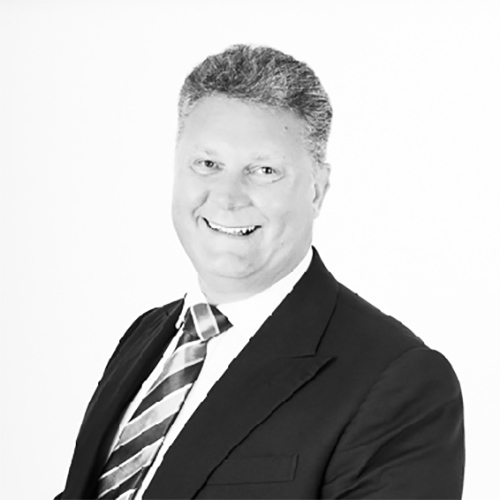 Paul Crewe, Director, Netbox Recruitment, black and white portrait photo