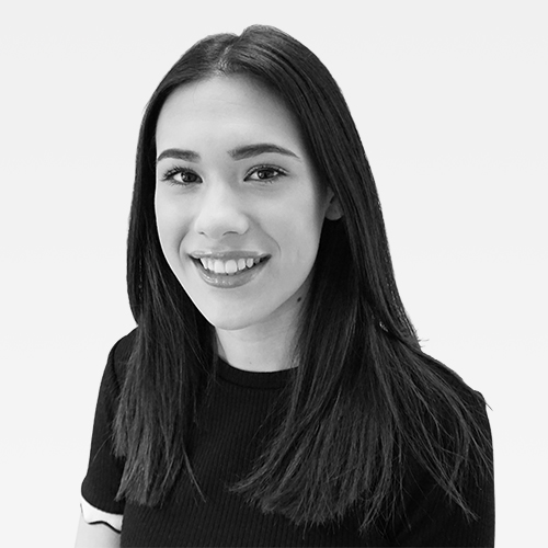 Rosie Kumar, Talent Resourcer, Netbox Recruitment, black and white portrait photo